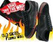 【バンズオールドスクールフレイムウォール】VANSOLDSKOOL(FlameWall)black/blk【フレイムウォールブラックフレームJAZZジャズオールドスクール】