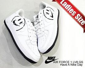 お得な割引クーポン発行中!!【あす楽 対応!!】【ナイキ エアフォース 1 ガールズ】NIKE AIR FORCE 1 LV8 2(GS) Have A Nike Day white/white-black av0742-100 スニーカー ハブ ア ナイキ デイ ホワイト