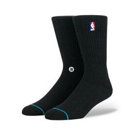 お得な割引クーポン発行中!!【あす楽 対応!!】【スタンスソックス】STANCE NBA Logoman Crew II BLACK m558a18log-blk 靴下 黒 メンズ NBA stancehoop BASKETBALL ハイソックス