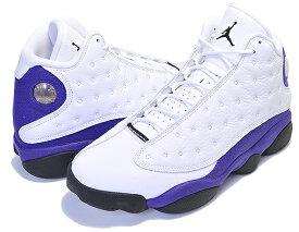 お得な割引クーポン発行中!!【あす楽 対応!!】【ナイキ エアジョーダン 13】NIKE AIR JORDAN 13 RETRO LAKERS white/black-court purple 414571-105 AJXIII LA レイカーズ