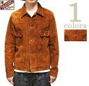 【 Y'2 LEATHER(ワイツーレザー) 】 TB-141 ステアスエード 2nd Type Gジャン [ STEER SUEDE ] [ アメカジ ] [ …