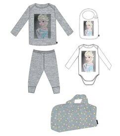 【 Little ELEVEN PARIS 】 リトル イレブン パリ PRINSELSA B プリンセス エルサ 出産祝い ギフトセット 6ヶ月 12ヶ月 ベビー肌着 ロンパース ロンティ パンツ スタイ ディズニー アナ雪 16S6LB10