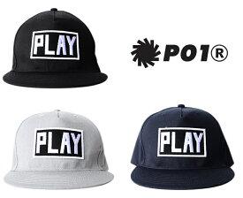 【国内正規品】 P01 プレイ PLAYDESIGN プレイデザイン PLAY CAP D スナップバック キャップ ベースボールキャップ P01-13ST103-D