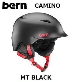 【WINTERモデル】 【国内正規品】 bern KIDS バーン キッズ 子供用 ヘルメット CAMINO MT BLACK CRANK FIT カミーノ マットブラック スノーボード 自転車 スケートボード ジュニア UNISEX BESB02Z SB02ZMBLK スノボ WINTER 冬用