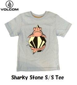【VOLCOM KIDS/ボルコム キッズ】 《小型宅配便(レターパックライト)ご指定で全国一律送料360円》【国内正規品】【全2色】 Sharky Stone S/S Tee Little Youth リトル ユース ボルコム キッズ ティ ヴォルコム Basic Fit ベーシック フィット 子供服 半袖 Tシャツ Y3521532