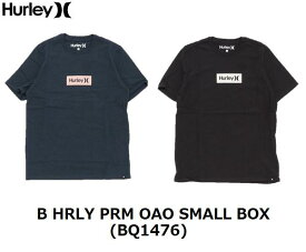 【HURLEY/ハーレー】 【国内正規品】 《レターパックライト(小型宅配便)ご指定で全国一律送料360円》 B HRLY PRM OAO SMALL BOX BQ1476 半袖 ボックスロゴ T-shirt Tシャツ ボーイズ キッズ ジュニア 子供用 男の子 サーフィン サーフブランド