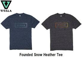 【VISSLA / ヴィスラ】 【国内正規品】《レターパックライト(小型宅配便)ご指定で全国一律送料360円》 (19SP) Founded Snow Heather Tee ファウンデッド スノーヘザー Tシャツ M425KFND Midnight Black Heather メンズ トップス 半袖 ティーシャツ ビスラ