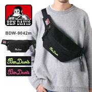 BenDavisボディバッグメンズレディース黒無地ベンデイビスウエストバッグウエストポーチショルダーバッグミニ軽量コンパクトカジュアル刺繍BDW-9042m送料無料