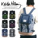 [送料無料] リュック Keith Haring キースヘリング リュックサック デイパック フラップ バックル スクエアリュック …