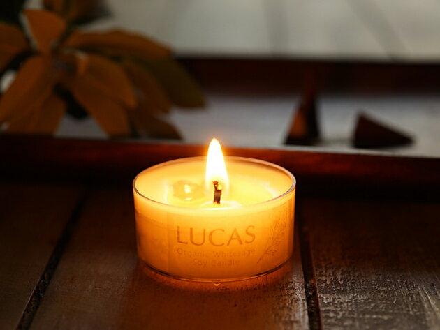 ホワイトセージ 浄化 瞑想 キャンドル ミニ LUCAS ルカス [日本製]【送料無料】ソイキャンドル オーガニック カリフォルニア セージ マインドフルネス ヒーリング ロウソク 蝋燭