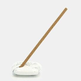 お香立て 【エクストラ・ホワイトセージ インセンス用】 LUCAS 天然石のお香立て 浄化香 ホワイトハウライトのお香立て