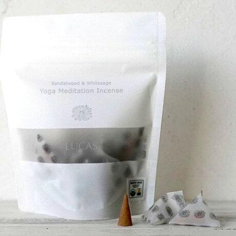 LUCASルカスホワイトセージ浄化瞑想ヨガ用お香インセンス10個入り