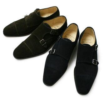 新 ORTIGNI 和阿爾金麂皮絨雙和尚吊飾鞋