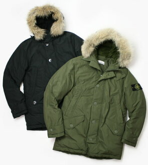 A / W new STONE ISLAND (stone Island) and coat with fur hooded military down