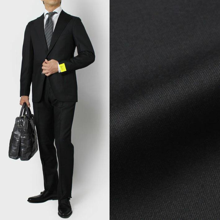 【国内正規品】【SALE30】秋冬アウトレット G.abo ( ジ アーボ ) / ピュアウール サージ 3B段返り シングル スーツ【ブラック】【送料無料】