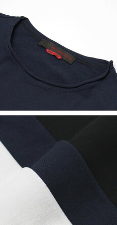 S/S新作JEORDIE'S(ジョルディーズ)/コットンクルーネックTシャツ【ホワイト/ネイビー/ブラック】【送料無料】