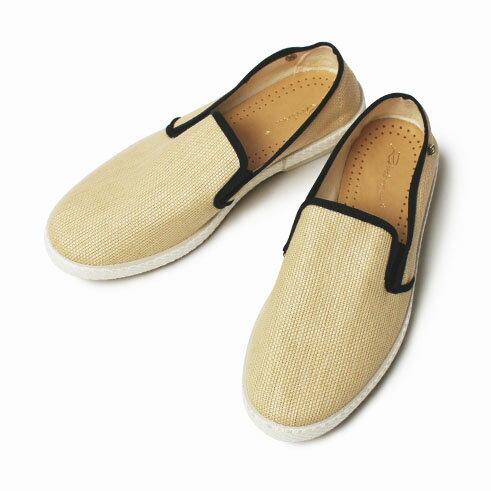 【国内正規品】【LADIES】【SALE 70】春夏 Rivieras Leisure Shoes / リヴィエラ レジャー シューズ / MONTECRISTI NOIR / ラフィア スリッポン【ナチュラル】【送料無料】