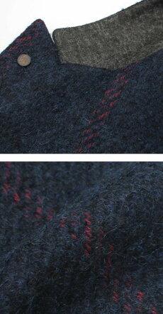 【国内正規品】F/W新作G.Pasini(ガブリエレパジーニ)/ウールストライプピークドラペルジャケット【ネイビー】【送料無料】