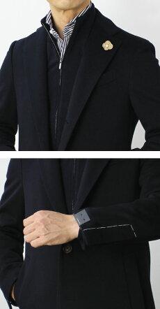 【国内正規品】F/W新作LARDINI(ラルディーニ)/LoroPiana(ロロピアーナ)RAINSYSTEM/ウール3釦段返りシングルチェスターコート【ネイビー/ブラック】【送料無料】