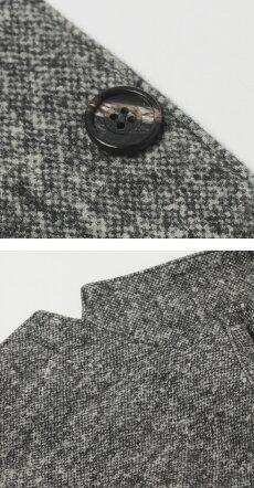 【国内正規品】F/W新作CIRCOLO1901(チルコロ1901)/カシミヤタッチツイードホームスパンプリントコットンジャージージャケット【グレー】【送料無料】
