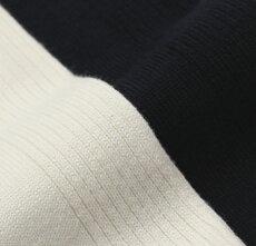 S/S新作robertocollina(ロベルトコリーナ)/コットン半袖ニットポロシャツ【ホワイト/ネイビー】【送料無料】