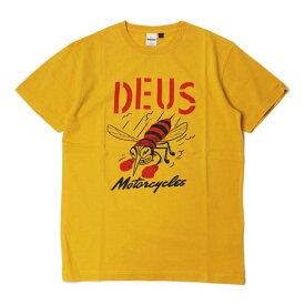 【国内正規品】【SALE】春夏 Deus ex Machina ( デウス エクス マキナ ) / コットン ロゴ Tシャツ【イエロー】【送料無料】