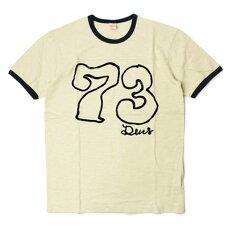 【国内正規品】S/S新作DeusexMachina(デウスエクスマキナ)/コットンフロッキー切替Tシャツ【オフホワイト】【送料無料】