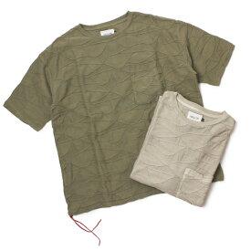 春夏 CAL O LINE ( キャルオーライン ) / ヒッピー ルーズ フィット Tシャツ【グレージュ/オリーブ】【送料無料】