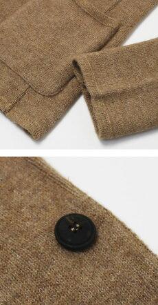 【国内正規品】F/W新作LARDINI(ラルディーニ)/キャメルアルパカニットジャケット【キャメル】【送料無料】