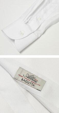F/W新作BAGUTTA(バグッタ)/MILANOモデル/Albini社×テンセルオックスフォードセミワイドカラーシャツ【ホワイト】【送料無料】