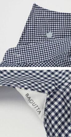 F/W新作BAGUTTA(バグッタ)/MILANOモデル/Albini社×テンセル100%ギンガムチェック柄セミワイドカラーシャツ【ネイビー】【送料無料】