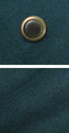 F/W新作DOPPIAA(ドッピアアー)/ウールメルトンダブルフェイスダブル4Bアルスターコート【ブルーグリーン】【送料無料】
