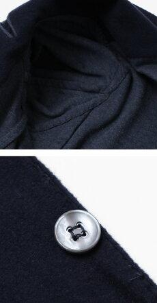 【国内正規品】F/W新作MarioMuscariello(マリオムスカリエッロ)/コットンフランネルジャージージャケット【ネイビー】【送料無料】