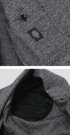 F/W新作eleventy(イレブンティ)/ウールジャカードマイクロハウンドトゥース柄ジャージー2Bシングルジャケット【グレー】【送料無料】