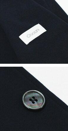 【国内正規品】S/S新作Cruciani(クルチアーニ)/コットンジャージィシングルジャケット【ネイビー】【送料無料】