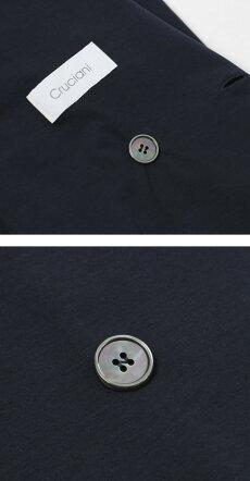 【国内正規品】S/S新作Cruciani(クルチアーニ)/コットンジャージィダブルブレストジャケット【ネイビー】【送料無料】