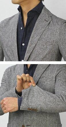 【国内正規品】S/S新作CIRCOLO1901(チルコロ1901)/コットンサマーツィードプリントジャージージャケット【ブラウン】【送料無料】