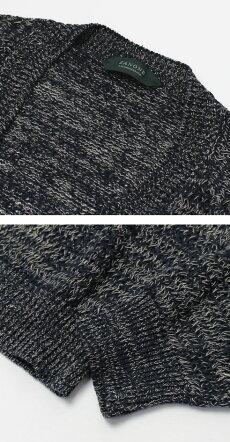 【国内正規品】S/S新作ZANONE(ザノーネ)/7GコットンリネンメランジVネックカーディガン【1842.テラコッタ/4614.ネイビー】【送料無料】