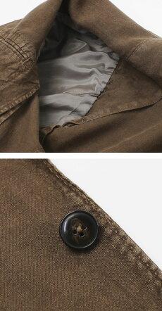 【国内正規品】S/S新作L.B.M.1911(エルビーエム1911)/JACKSLIM(ジャックスリム)/リネン100%製品洗い2B2パッチジャケット【ブラウン】【送料無料】