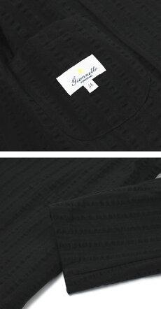 【国内正規品】新作GIANNETTO(ジャンネット)/コットンシアサッカーセットアップジャケット【ブラック】【送料無料】