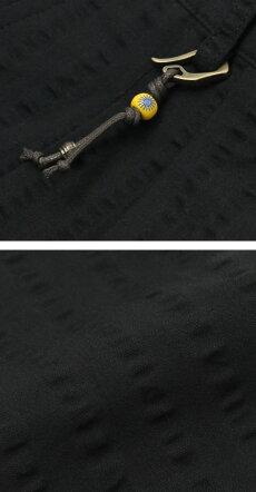 【国内正規品】新作GIANNETTO(ジャンネット)/コットンシアサッカーセットアップツープリーツパンツ【ブラック】【送料無料】