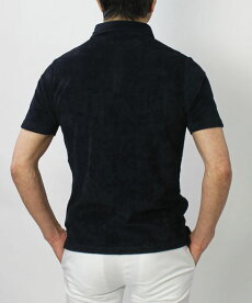【国内正規品】S/S新作LARDINI(ラルディーニ)/コットンパイルスキッパーポロシャツ【ホワイト/ベージュ/ブラウン/ネイビー】【送料無料】