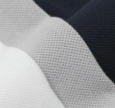 【国内正規品】S/S新作Cruciani(クルチアーニ)/コットン鹿の子半袖ポロシャツ【ホワイト/アイスグレー/ネイビー】【送料無料】