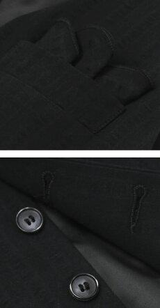 【国内正規品】新作GIANNETTO(ジャンネット)/コットンシアサッカーセットアップジレ【ブラック】【送料無料】