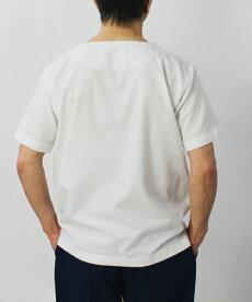 S/S新作BAGUTTA(バグッタ)/「Albini社」コットンモール布帛Tシャツ【ホワイト】【送料無料】
