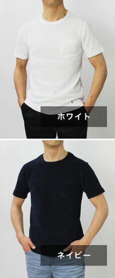 S/S新作GUYROVER(ギローバー)/コットンパイルポケットTシャツ【ホワイト/ネイビー】【送料無料】