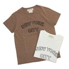 新作REMIRELIEF(レミレリーフ)/NEWYORKCITYスペシャル加工Tシャツ【オフホワイト/モカ】【送料無料】