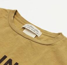 新作REMIRELIEF(レミレリーフ)/INDIANAスペシャル加工Tシャツ【ベージュ/マスタード】【送料無料】