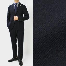 【国内正規品】F/W 新作 LARDINI ( ラルディーニ ) / JQ091AQ / Easy Wear / パッカブル / ウール 撥水 ストレッチ ワンプリーツ スーツ【ネイビー】【送料無料】