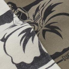 新作REMIRELIEF(レミレリーフ)/30/-スペシャル加工天竺プリントTシャツ【オフホワイト/ベージュ】【送料無料】